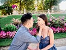 beautiful surprise proposal at luxembourg gardens in paris
