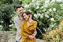 engagement couples shoot at bibury cotswolds