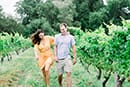 Playful and romantic engagement session