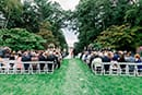 Wedding guests at Bradley Estate wedding