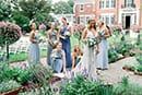 Bride and bridesmaids candid